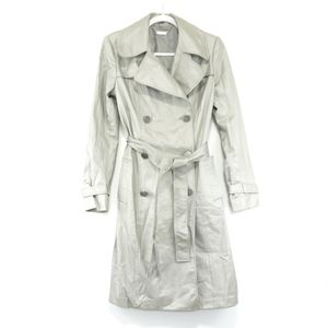 Elie Tahari Silver Trench Coat